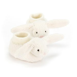 Bashful Cream Bunny Booties 10 cm